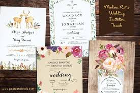 Modern Rustic Wedding Invitations