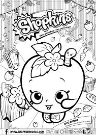 Shopkins Coloring Pages Le Blossom Free Of Kins Print