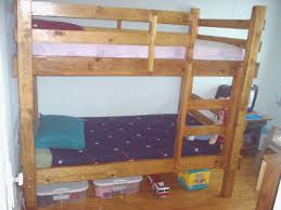 bunk bed plans twin children adults rustic