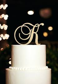 K Cake Topper Click To Buy Monogram Letter Rustic Wedding Decoration Party Decorating Baby Shower Ideas