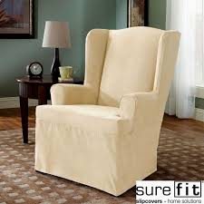 Sure Fit Folding Chair Slipcovers by Wingback Chair Covers 8 Home Decoration