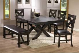 Black And Brown Dining Table Room Sets Tables With Benches