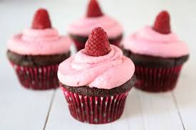 Dark Chocolate Cupcakes With Raspberry Buttercream2