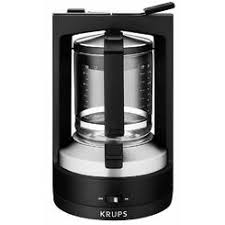 KRUPS KM4689 Moka Brewer Coffee Maker Machine With Permanent Filter And Glass Carafe 10