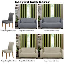 3 Seater Sofa Covers by Easy Fit Sofa Cover Or Stretch Dining Chair Cover By Home