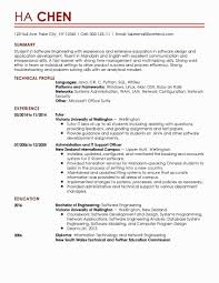 Engineer Resume Examples Awesome Sample Engineering Student
