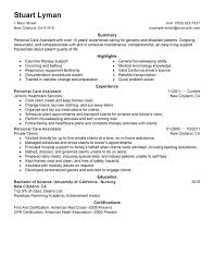 Resume Sample For Aged Care Worker Residential Amazing Personal
