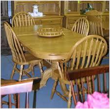 100 Oak Pedestal Table And Chairs Mennonite Lloyds Mennonite Furniture