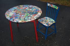 Decoupage Furniture Superhero Table And Chair | Decoupage ... Delta Children Ninja Turtles Table Chair Set With Storage Suphero Bedroom Ideas For Boys Preg Painted Wooden Laptop Chairs Coffee Mug Birthday Parties Buy Latest Kids Tables Sets At Best Price Online In Dc Super Friends And Study 4 Years Old 19x 26 Wood Steel America Sweetheart Dressing Stool Pink Hearts Jungle Gyms Treehouses Sandboxes The Workshop Pj Masks Desk Bin Home Sanctuary Day