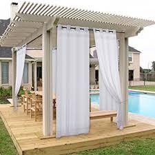 amazon com pergola drape outdoor curtain panel nicetown light