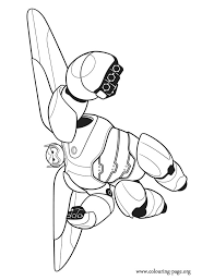 Baymax Can Transform Himself Into A Combat Robot With Rocket Thrusters That Allow Him To Fly RobotColoring SheetsColoring