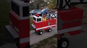 100 Fire Truck Halloween Costume Truck I Made For Kylens Costume YouTube
