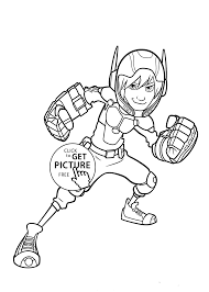 Hiro Hamada Coloring Pages For Kids Printable Free