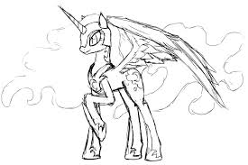 900x600 My Little Pony Coloring Pages Princess Luna Filly