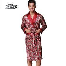 robe de chambre satin homme hommes de satin v cou robe faux soie spa à manches longues