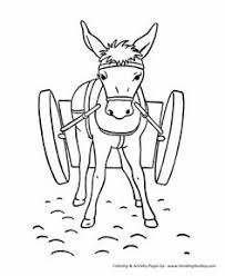 Farm Animal Coloring Page Free Printable Donkey With A Cart Pages Featuring Hundreds Of Animals Sheets