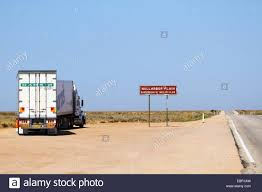 100 Eastern Truck And Trailer A Truck Stopped By The Eyre Highway Sign Informs Of The Eastern End