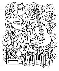 Zen Tangle Musical Ornament For Coloring Page Or Relax Book Royalty Free