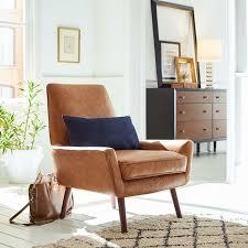 Rivet Jamie Mid-Century Leather Low Arm Accent Chair 31