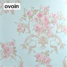 Large Flower Teal Blue Vintage Floral Wallpaper For Walls American Wall Paper Living Room