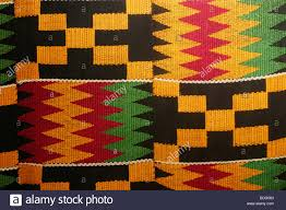 ashanti kente clothe accra ghana west africa stock photo