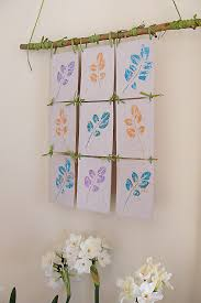 Stamp Pad Leaf Print Wall Hanging