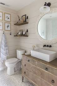 These Ideas Use Favorite Farmhouse Bathroom Decor Items Like Old Wood Mason Jars Galvanized Metal And Concrete To Give Your Space A Cozy Homey Feeling
