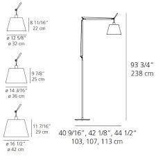 Tolomeo Mega Floor Lamp by Artemide Tolomeo Mega Fiber Shade Floor Lamp Interiordesignerdecor