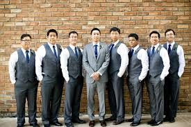 Photo Gallery Of The Wedding Suit For Groom And Groomsmen