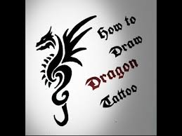 How To Draw Tribal Dragon Tattoo Drawing