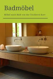 waschbecken mit unterschrank holz minimalistisch