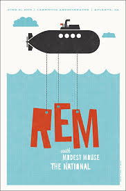 REM Modest Mouse And The National Concert Poster