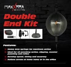 Heavy Bag Ceiling Bracket by Amazon Com Maxxmma Double End Striking Punching Bag Kit Sports