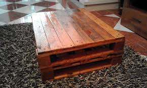 Rustic Coffee Table Made Out Of Pallets With The Most Awesome Tables