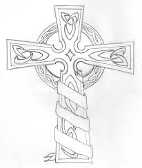 Celtic Cross Colouring Pages