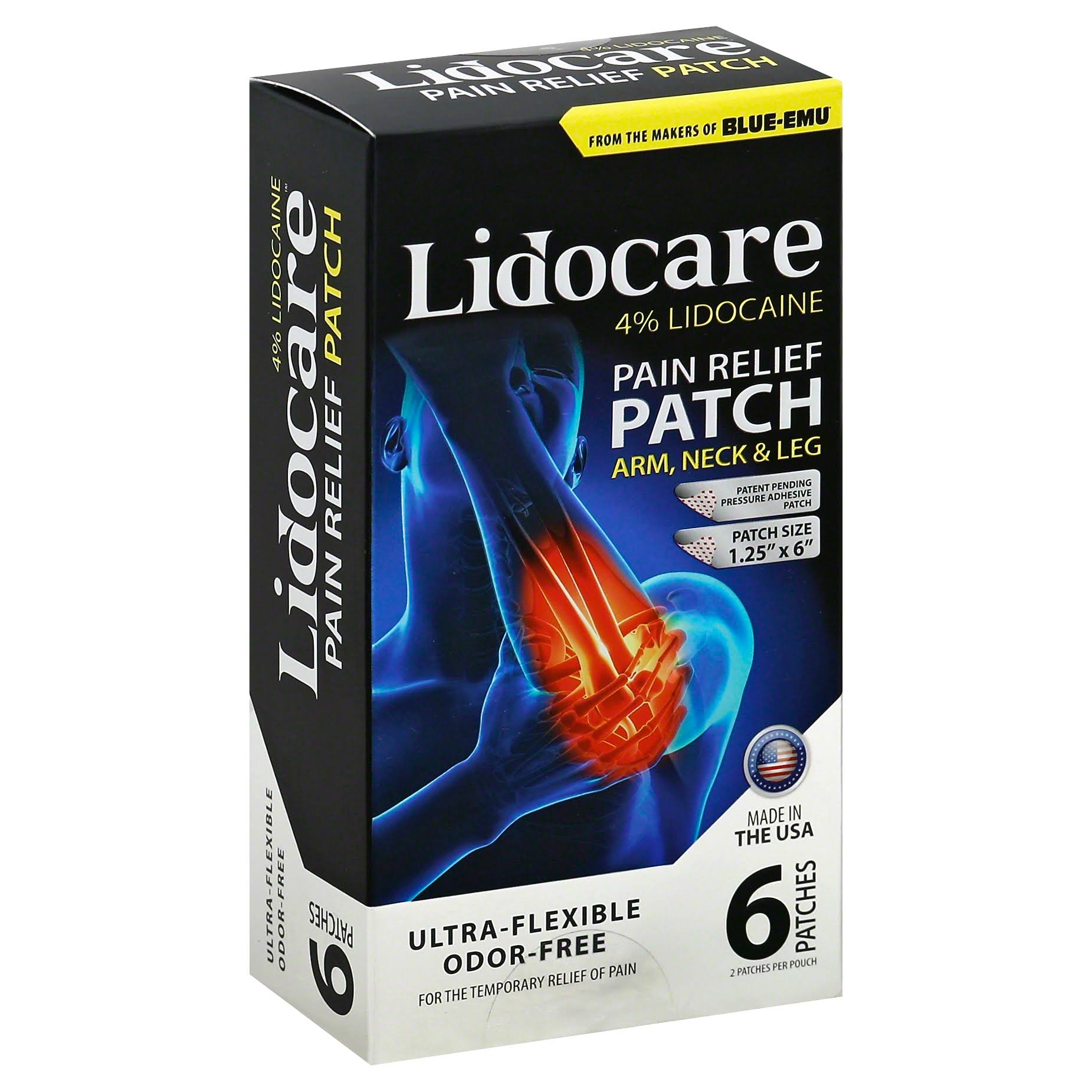 Lidocare Pain Relief - 6 Patches