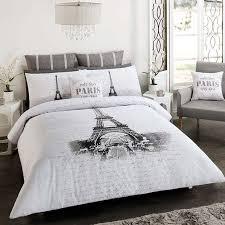 PARIS EIFFEL TOWER DOUBLE FULL Bed QUILT DOONA COVER SET NEW Paris Room DecorParis BedroomParis