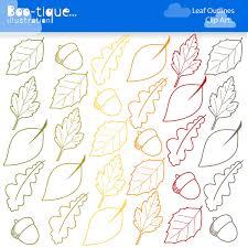 Acorn clipart fall leaves 6