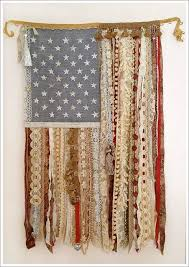 This Beautiful Lace Ribbon Flag Would Be Perfect For A Rustic Touch To Country Home