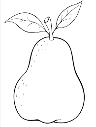 Awesome Pear Coloring Page 65 For Your Coloring Pages line with Pear Coloring Page