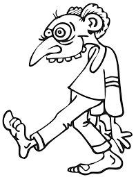 Download Zombie Coloring Page