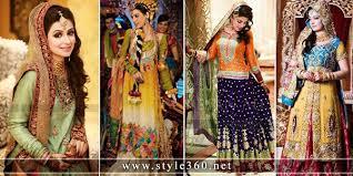 Latest Mehndi Dresses Designs 2016 For Brides