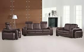 sofagarnitur 3 2 1 set polster leder sofa wohnzimmer sitz garnituren 3339 ebay