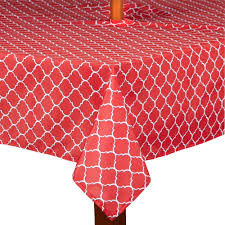 Rectangle Patio Tablecloth With Umbrella Hole by Lattice Indoor Outdoor Umbrella Tablecloth Christmas Tree Shops