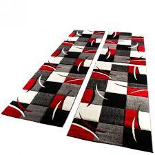 wohnzimmer teppich läufer set modern