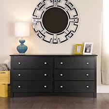 amazon com black sonoma 6 drawer dresser kitchen dining