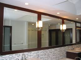 Bathroom Mosaic Mirror Tiles by Bathroom Mosaic Tile Backsplash With Mirrormate And Wall Sconces