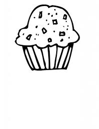 Cupcakes Drawing Black And White