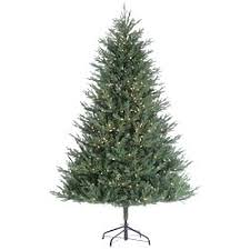 Faux Lighted Kentucky Fir Christmas Tree