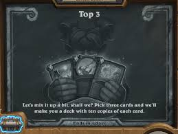 tavern brawl top 3 hearthstone top decks